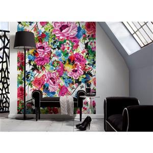 "Brewster Wallcovering Romantic Pop Wall Mural - 100"" x 72"""