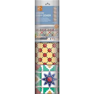 WallPops Colourful Tiles Premium Window Film - 17.71-in x 70.86-in