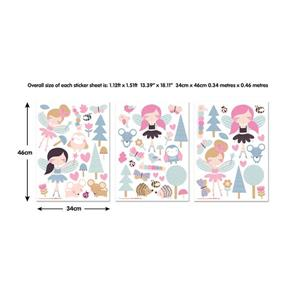 WallPops Woodland Fairies & Friends Wall Stickers - 18.1-in x 26.8-in