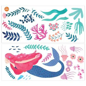 WallPops Let's Be Mermaids Wall Art Kit - 34.5-in x 39-in
