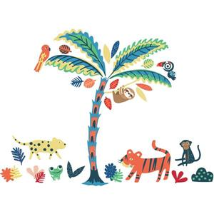 WallPops Tropical Rainforest Friends Wall Art Kit - 34.5-in x 39-in