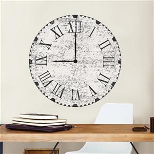 WallPops Reclaimed Clock Wall Art Kit - 36-in x 48-in