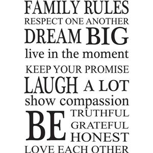 WallPops Family Rules Wall Art Kit - 39-in x 34.5-in