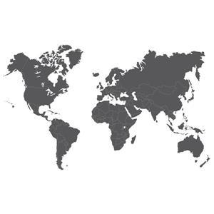 WallPops Giant World Map Wall Art Kit - 36-in x 48-in