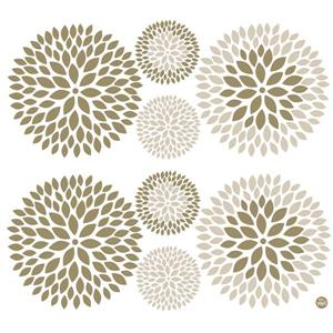 WallPops Chrysanthemum Wall Art Kit - 39-in x 34.5-in