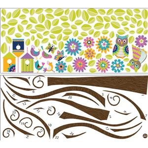 WallPops Hoot and Hangout Large Wall Art Kit - 39-in x 34.5-in