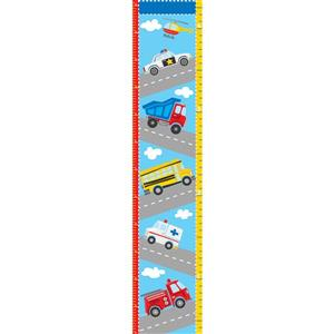 WallPops Transportation Growth Chart Decal - 16-in x 19.5-in