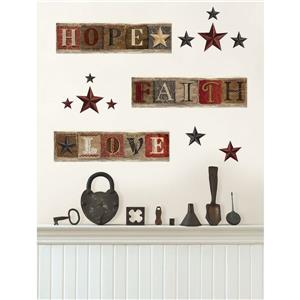 WallPops Country Wall Decals - 34.5-in x 9.75-in
