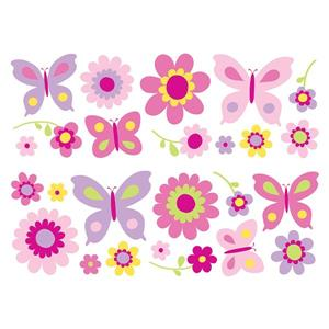 WallPops Flowers and Butterflies Stikarounds - 55-in x 9.75-in