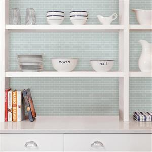 WallPops Sea Glass Peel & Stick Backsplash Tiles - 20-in x 20-in