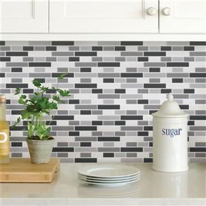 WallPops Peel & Stick Backsplash Tiles - Smoked Glass - 10-in x 10-in