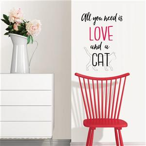 WallPops Love and a Pet Wall Quote - 15-in x 22-in
