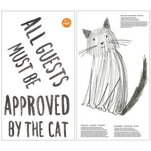 WallPops Cat Approved Wall Quote - 15-in x 20-in