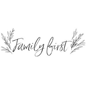 WallPops Family First Wall Quote - 40-in x 14-in