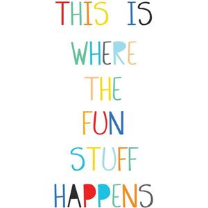 WallPops Fun Stuff Wall Quote - 30-in x 15-in