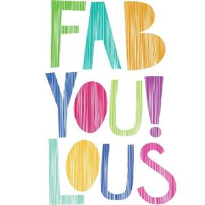 WallPops FabYoulous! Wall Quote - 20-in x 15-in