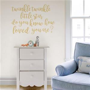 WallPops Twinkle Little Star Wall Quote - 19.5-in x 17.25-in