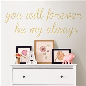 WallPops Forever My Always Wall Quote - 19.5-in x 17.25-in