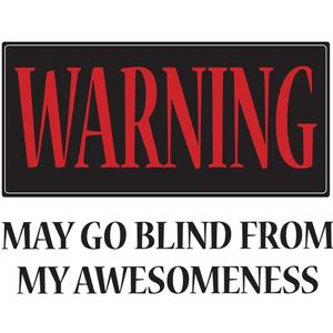 WallPops Warning May Go Blind Wall Quote - 19.75-in x 17.25-in