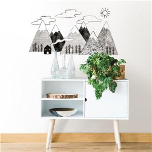 WallPops Montains Wall Art Kit - 46-in x 24-in