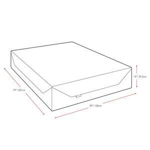 CorLiving Memory Foam Mattress Medium Firm 14-in Queen