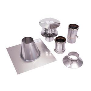 Z-Flex Z-Vent 4-in Stainless Steel Water Heater Vertical Vent Kit
