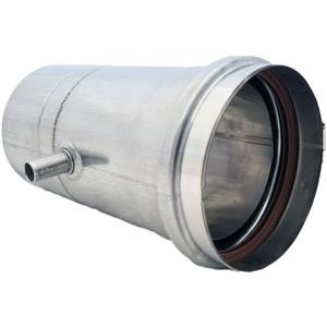 Z-Flex Z-Vent 4-in Stainless Steel Water Heater Vertical Drain Pipe