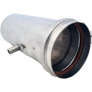 Z-Flex Z-Vent 4-in Stainless Steel Water Heater Horizontal Drain Pipe