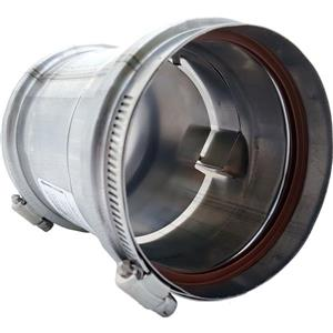 Z-Flex Z-Vent 4-in Stainless Steel Universal Adapter With Backflow Preventer