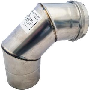 Z-Flex Z-Vent 4-in 90° Stainless Steel Elbow