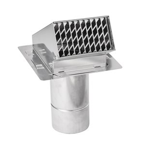 Z-Flex Z-Vent 3-in Stainless Steel Termination Hood with Backflow Preventer