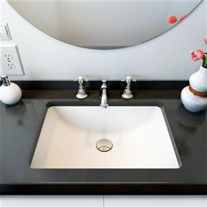 A&E Bath & Shower Undermount Sink - White