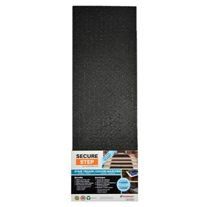 Secure Step 8-in x 36-in  Black Rubber Stair Treads (3 Pack)
