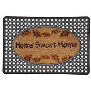 Technoflex 20-in x 30-in Rubber Printed Coco Home Sweet Home  Door Mat