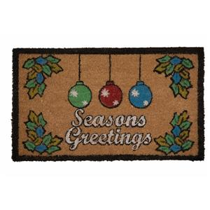 Technoflex 18-in x 30-in Seasons Greetings Printed Coco Door Mat