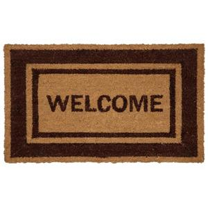 Technoflex 18-in x 30-in Brown Border Welcome Printed Coco Door Mat