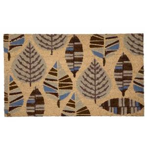 Technoflex 18-in x 30-in Multi Leaf Printed Coco Door Mat