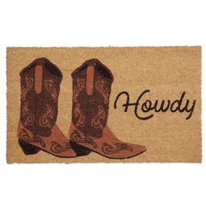 Technoflex 18-in x 30-in Howdy Printed Coco Door Mat