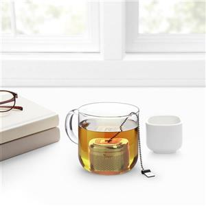 Umbra Cutea White and Nickel Tea Infuser