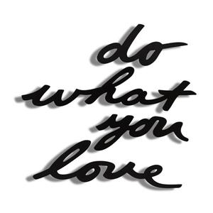 Umbra Wall Decor with -inDo What You Love-in Mantra - Black
