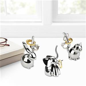 Umbra Zoola 3.50-in x 2.75-in x 4.50-in Chrome Ring Holder (Set of 3)
