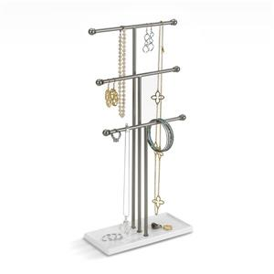 Umbra Trigem 18.88-in x 4-in x 9-in White Nickel Jewelry Stand