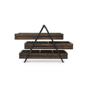 Umbra Terrace 7.75-in x 7-in x 10-in Black Walnut Jewelry Tray