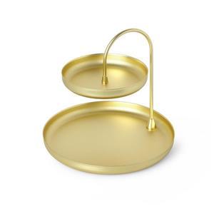 Umbra Poise 7.25-in x 8-in x 8-in Brass Jewelry Tray