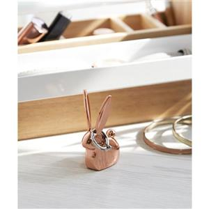 Umbra Anigram 2.88-in x 1-in x 1.5-in Copper Bunny Ring Holder