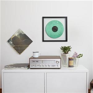 Umbra 17-in x 17-in Black Record Photo Display