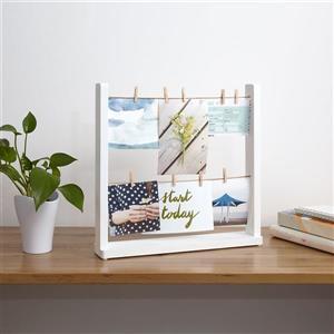 Umbra White Hangit Desktop Photo Display
