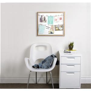 Umbra Brown 1.38-In x 17.5-In x 20.63-In Wood Clothesline Photo Display