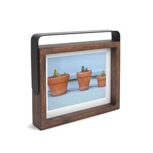 Umbra Aged Walnut 1.63-In x 8.5-In x 9.75-In Wood Axis Photo Display