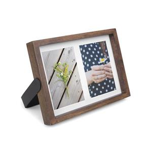 Umbra Aged Walnut 1.63' x 9.5-In x 11.5-In Wood Axis Photo Display